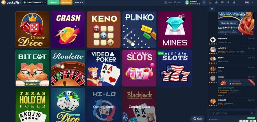 2020 04 02 17 26 13 840x400 - LuckyFish – Bitcoin Casino – Dice – Crash – Roulette – Faucet